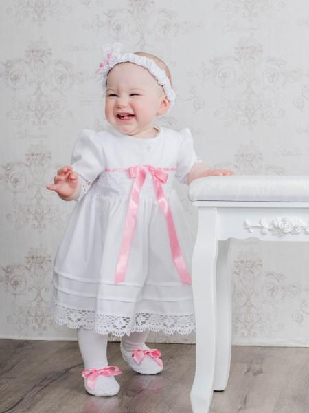 Taufkleid Festkleid 3-tlg., Baby*Mädchen, Gr. 56, 62, 68, 74, 80, 86