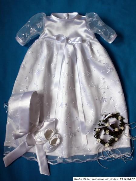Taufkleid 3tlg Baby, Junge, Mädchen, 56-62-68-74-80-86