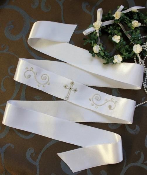 Stirnband zu Taufkleid, orthodoxe Taufe, bestickt, SWAROVSKI
