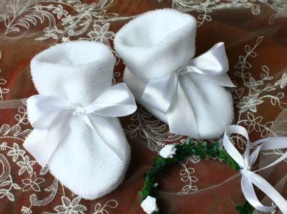 Taufschuhe Winter, Schuhe Stiefel für Taufe, weiss/creme, Fleece, zu Taufkleid