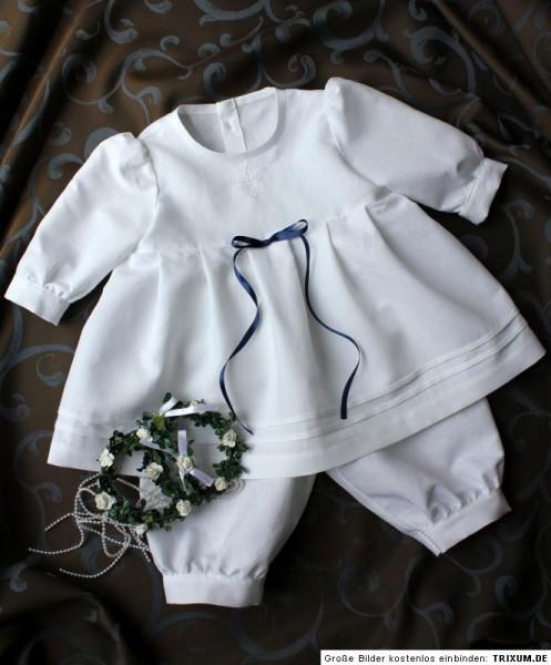 Taufanzug 2-tlg. zu Taufkleid, Baby*Junge*Mädchen, Anzug Taufe, HALBLEINEN